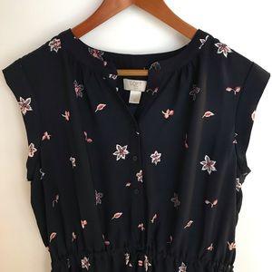 LOFT Outlet Sleeveless Dress w/buttons - Petite:LP